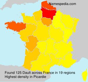 Surname Dault in France