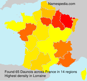 Surname Daunois in France