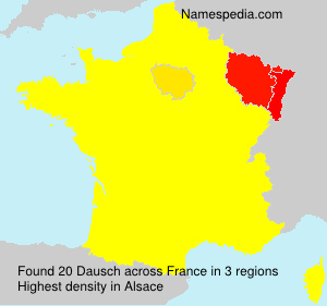 Surname Dausch in France