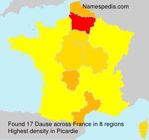 Surname Dause in France