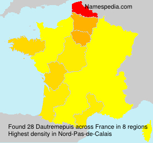 Surname Dautremepuis in France