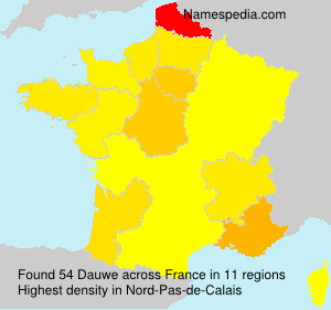Surname Dauwe in France