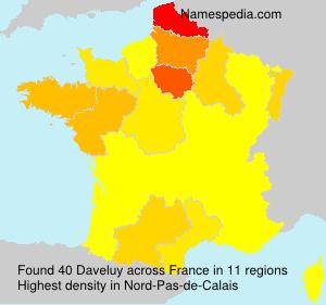 Familiennamen Daveluy - France
