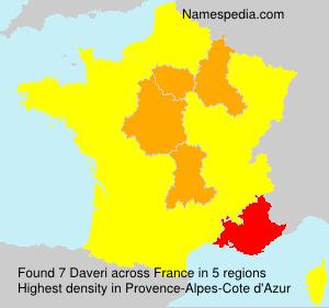 Surname Daveri in France