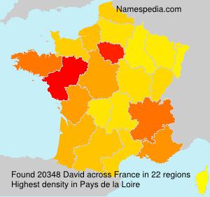 Surname David in France