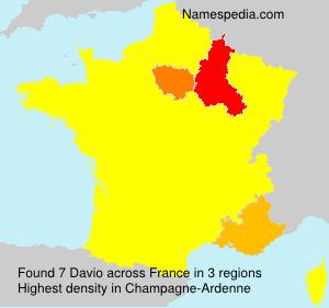 Surname Davio in France