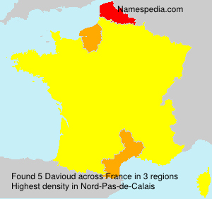 Surname Davioud in France