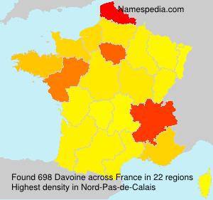 Surname Davoine in France