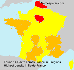 Surname Davre in France