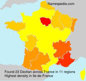 Surname Davtian in France