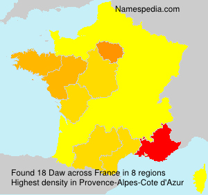 Surname Daw in France