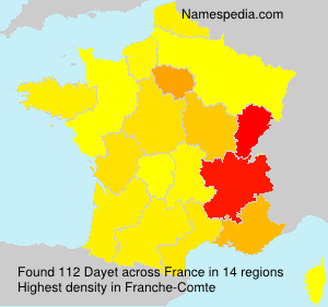 Surname Dayet in France