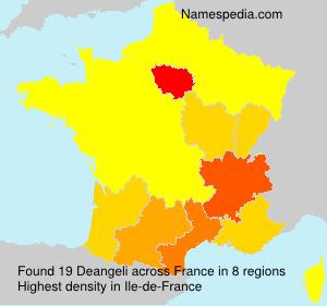 Surname Deangeli in France