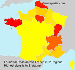 Surname Deas in France
