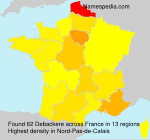 Familiennamen Debackere - France