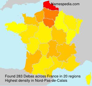 Surname Debas in France