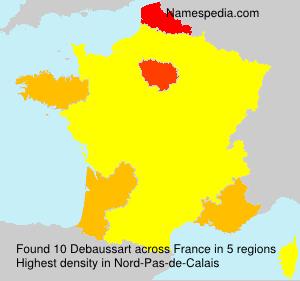 Surname Debaussart in France