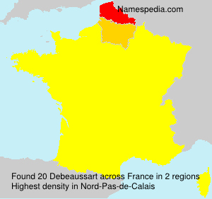 Surname Debeaussart in France