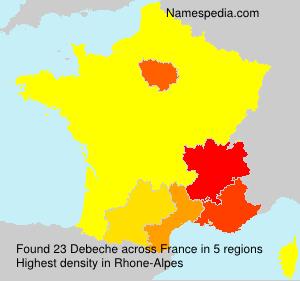 Familiennamen Debeche - France