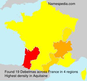 Surname Debelmas in France