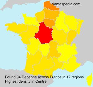 Surname Debenne in France