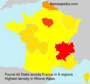 Surname Debit in France