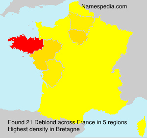 Surname Deblond in France