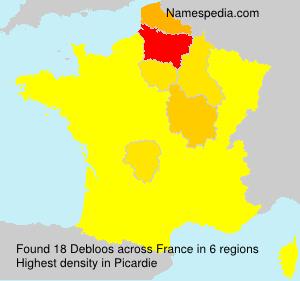 Familiennamen Debloos - France