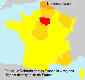 Surname Deborah in France