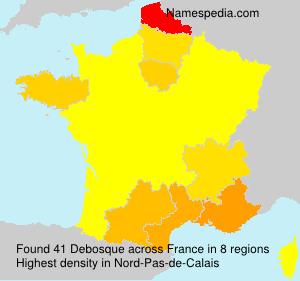 Surname Debosque in France