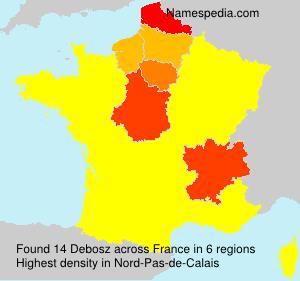 Surname Debosz in France