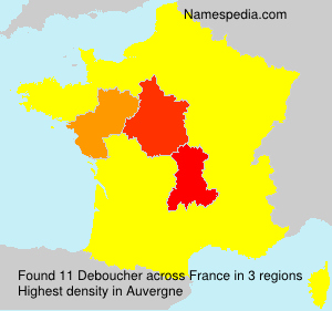 Surname Deboucher in France