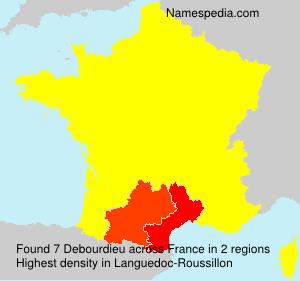 Surname Debourdieu in France