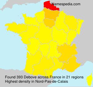 Surname Debove in France