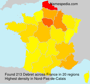 Surname Debret in France