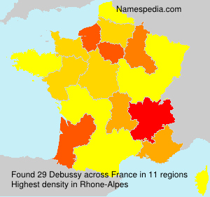 Surname Debussy in France