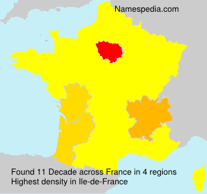 Surname Decade in France