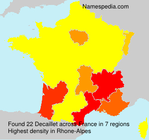 Surname Decaillet in France