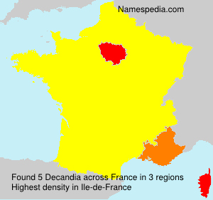 Surname Decandia in France
