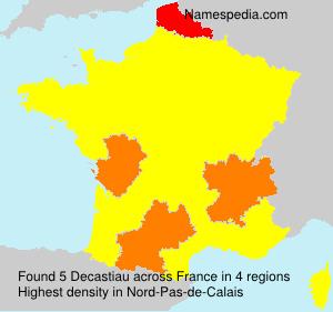 Familiennamen Decastiau - France