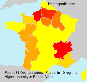 Surname Dechant in France