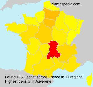 Familiennamen Dechet - France