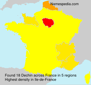 Surname Dechin in France