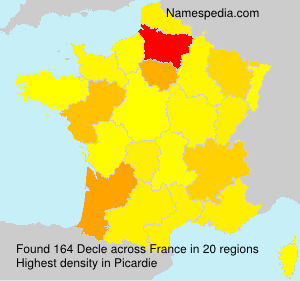 Surname Decle in France