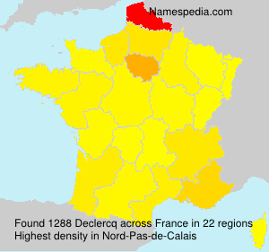 Surname Declercq in France