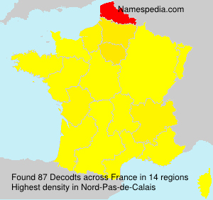 Surname Decodts in France