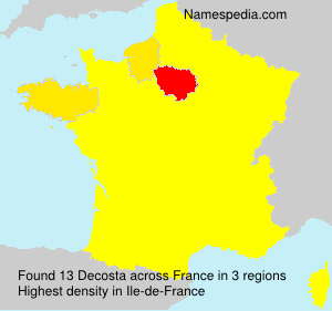 Surname Decosta in France
