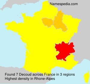 Familiennamen Decoud - France