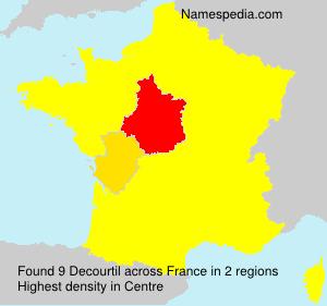 Familiennamen Decourtil - France