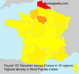 Surname Decreton in France